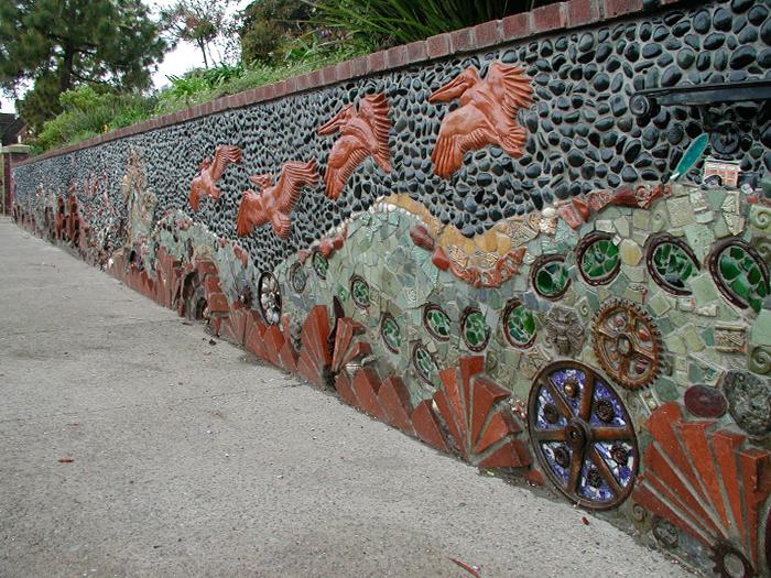 3_DelMar_Library_Wall_tile_terracotta_rusty_metal