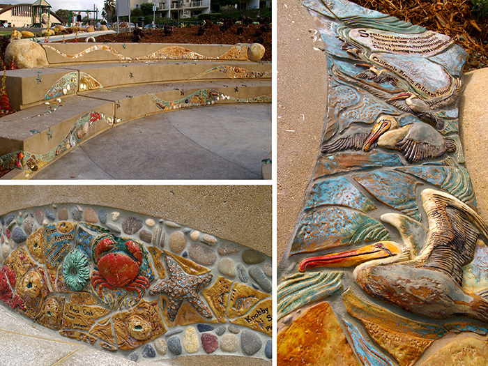 4_Fletcher_Cove_Park_tile_shells_seat_walls