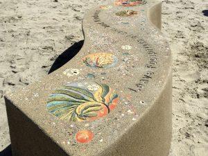 Moonlight Beach Tribute Bench