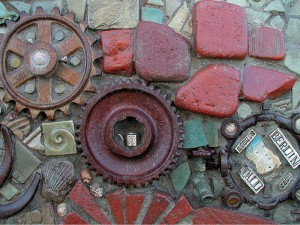 Del Mar Library Mixed-Media Mosaic Wall