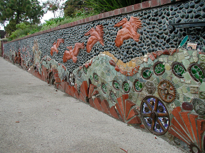 3_DelMar_Library_Wall_tile_terracotta_rusty_metal