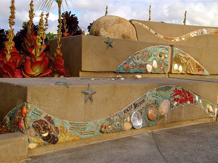 3_Fletcher_Cove_Park_tile_shells_seat_walls